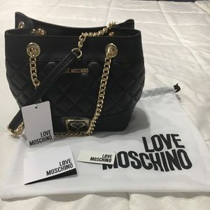 MOSCHINO quilted handbag. Brand new with tags!